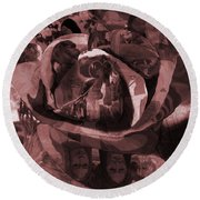 Rose No 2 Round Beach Towel by David Bridburg