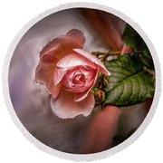 Rose On Paint #g5 Round Beach Towel