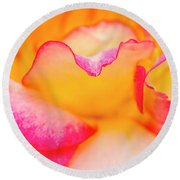 Rose Petal Curves Round Beach Towel by Teri Virbickis