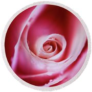 Rose Pink Round Beach Towel