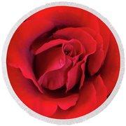 Rose Red 4 Round Beach Towel