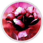 Rose Rose  Copyright Mary Lee Parker  Round Beach Towel by MaryLee Parker