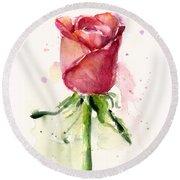 Rose Watercolor Round Beach Towel by Olga Shvartsur