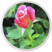 Rosebud Round Beach Towel