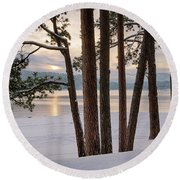Rosenberry Sunset Round Beach Towel