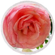 Roses And Clapboard Round Beach Towel by Beth Saffer