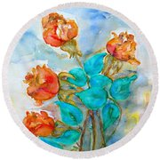Roses Buds Round Beach Towel