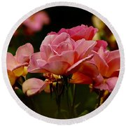 Roses By The Bunch Round Beach Towel