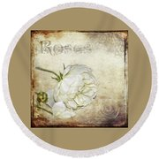 Round Beach Towel featuring the photograph Roses by Carolyn Marshall