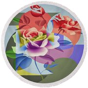 Roses For Her Round Beach Towel