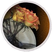Roses For My Love Round Beach Towel