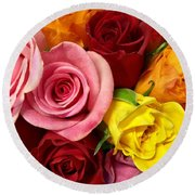 Roses Spell The Beauty Of My Son's Love Round Beach Towel