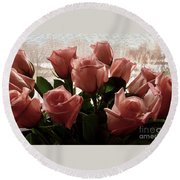 Roses With Love Round Beach Towel