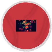 Roses Round Beach Towel by Wolfgang Rain