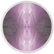 Rosey Light Phantom Round Beach Towel