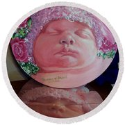 Rosey Little Babe Round Beach Towel by Ruanna Sion Shadd a'Dann'l Yoder