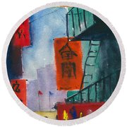 Ross Alley, Chinatown Round Beach Towel
