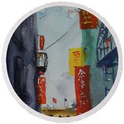 Ross Alley6 Round Beach Towel