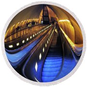 Rosslyn Metro Station Round Beach Towel by John S