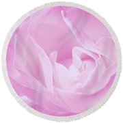 Rosy Cheek Pink Round Beach Towel by Janice Westerberg