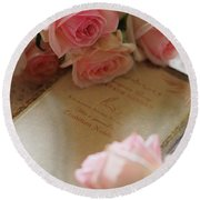 Rosy Holiday Round Beach Towel by Rachel Mirror