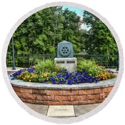 Rotary Park Monument Garden Round Beach Towel by Trey Foerster