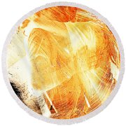 Rotational Embrace Round Beach Towel by Andrea Barbieri