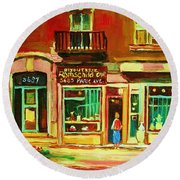 Rothchilds Jewellers On Park Avenue Round Beach Towel