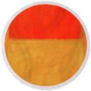 Rothko's Orange And Tan Round Beach Towel