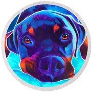 Rottweiler - Dexter Round Beach Towel