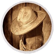 Rough Rider Round Beach Towel by American West Legend By Olivier Le Queinec