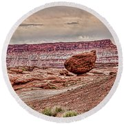 Roun Balance Rock Round Beach Towel by Daniel Hebard