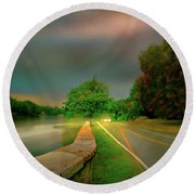 Round Beach Towel featuring the photograph Round The Bend by Diana Angstadt