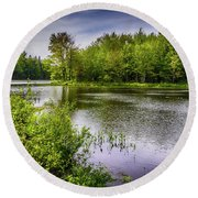 Round Beach Towel featuring the photograph Round The Bend In Oil 36 by Mark Myhaver