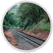 Round The Bend Round Beach Towel