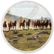 Round Up Round Beach Towel