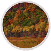 Round Valley State Park 2 Round Beach Towel by Raymond Salani III