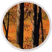 Round Valley State Park 3 Round Beach Towel by Raymond Salani III