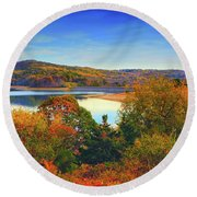 Round Valley State Park 4 Round Beach Towel by Raymond Salani III