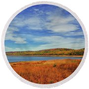 Round Valley State Park Round Beach Towel by Raymond Salani III