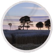 Roundway Hill - England Round Beach Towel
