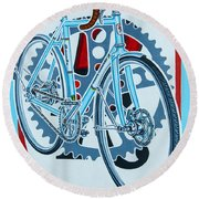 Rourke Bicycle Round Beach Towel