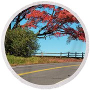 Route 5 Color Round Beach Towel