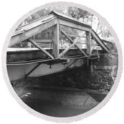 Route 532 Bridge Over The Delaware Canal - Washington's Crossing Round Beach Towel
