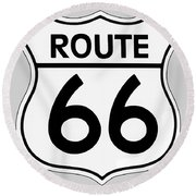 Route 66 Sign Round Beach Towel
