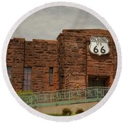 Route 66 Museum Round Beach Towel