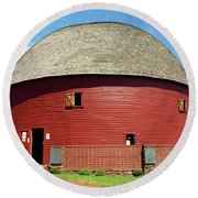 Route 66 - Round Barn Round Beach Towel by Frank Romeo