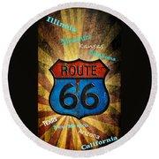 Route 66 Round Beach Towel