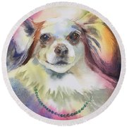 Roux Round Beach Towel
