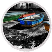Row Boats At Mudeford Round Beach Towel